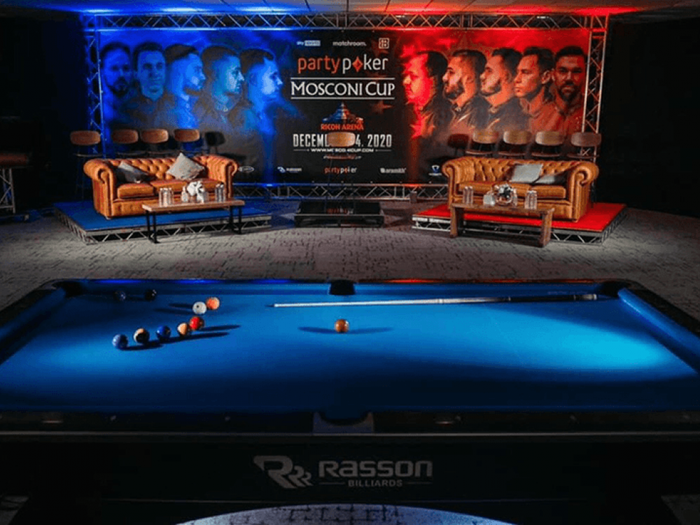Matchroom Pool Event Set and Backdrop