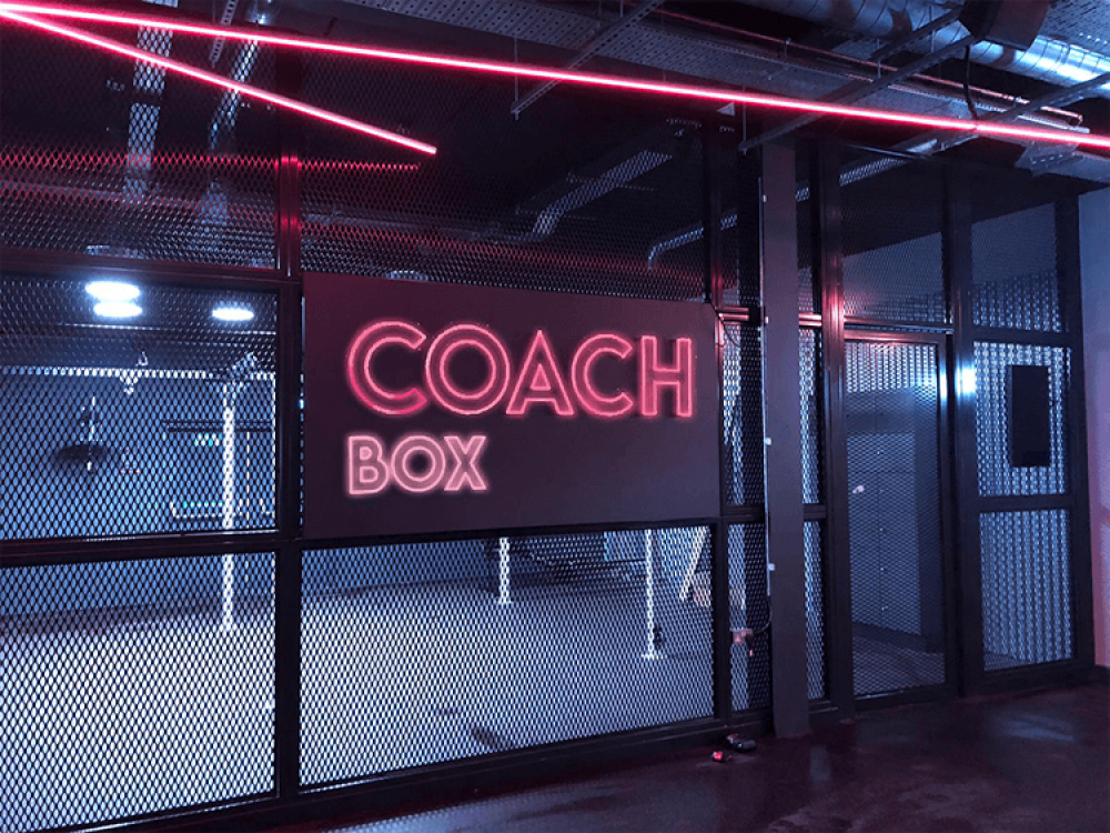 Coach Gym Internal Faux Neon Illuminated Signs