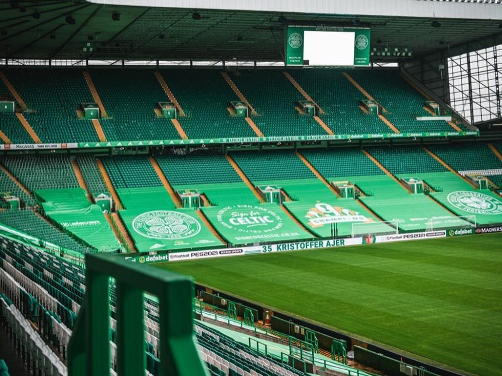Celtic Park Stadium Seating Banners