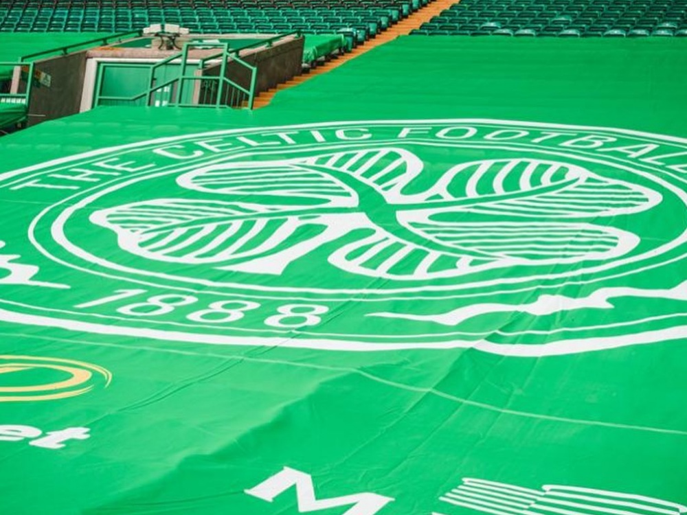 Celtic Park Seating Banners Close Up