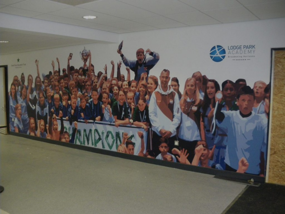 Lodge Park Academy Wall Graphics