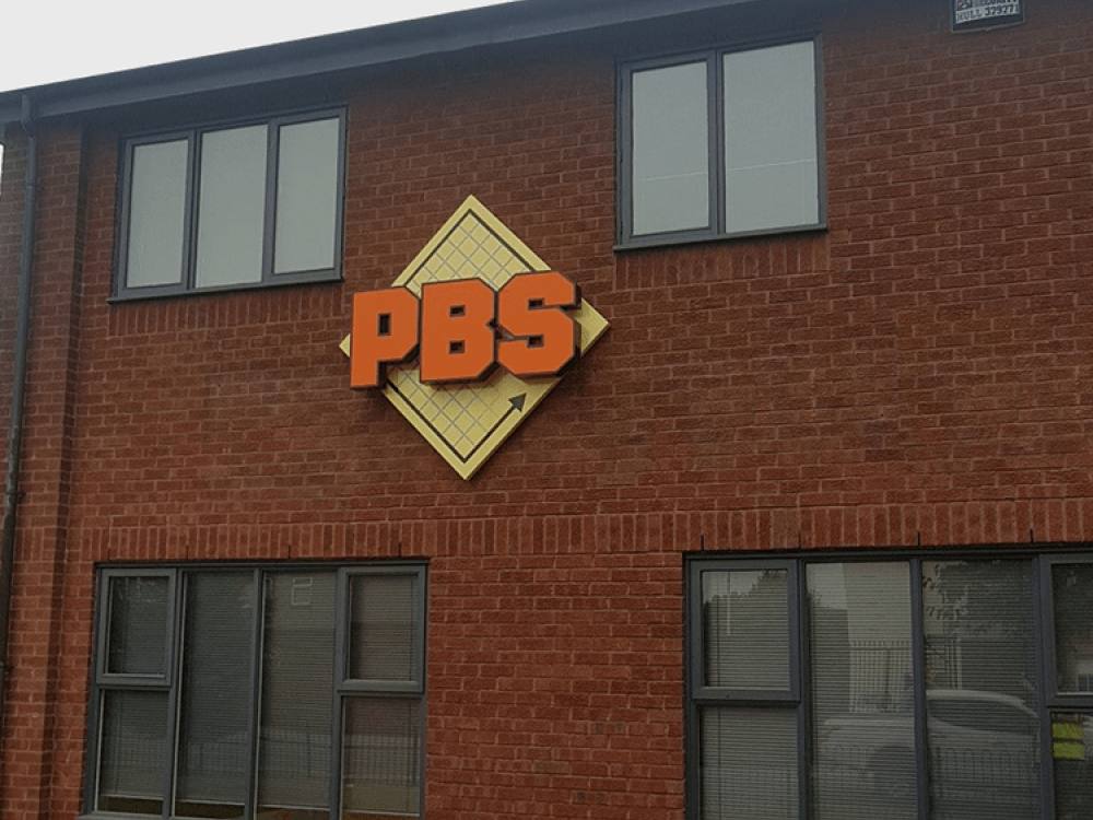 PBS Construction Built Up Letter Signage