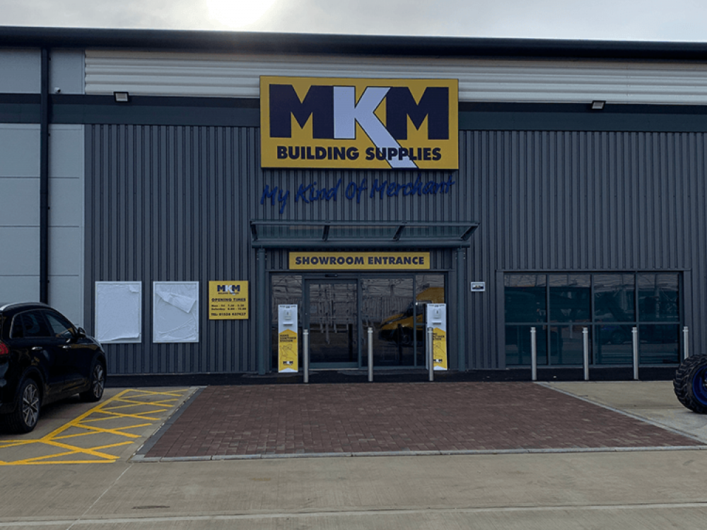 MKM Store front signage