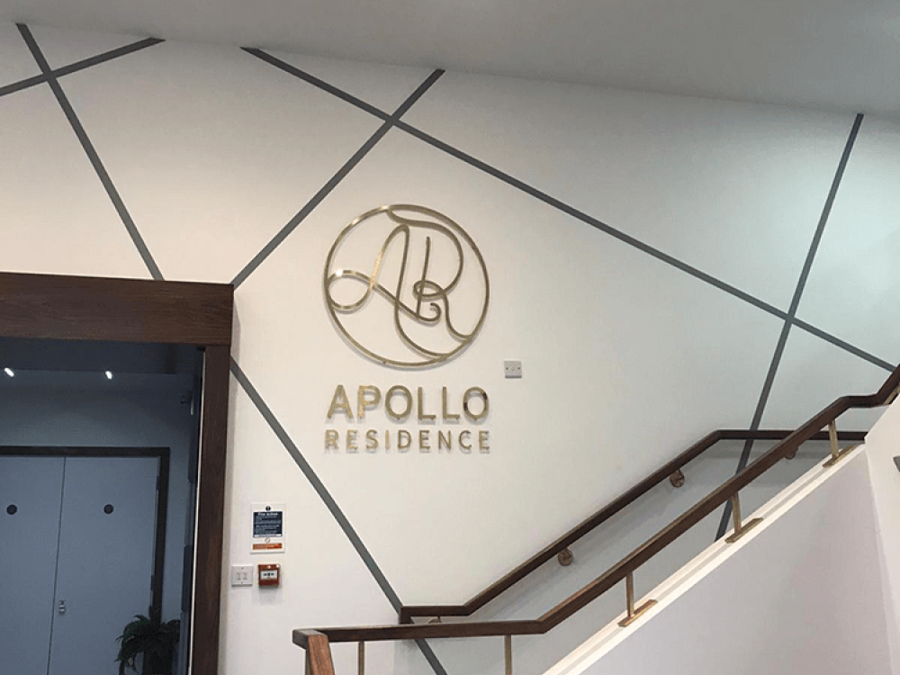 Apollo Residence Wall Graphics on Stairs