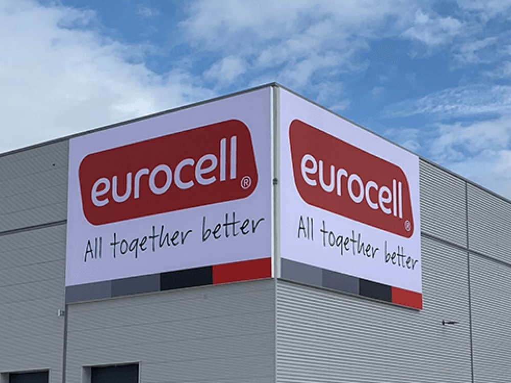 Eurocell Large Flex Face Sign Close Up